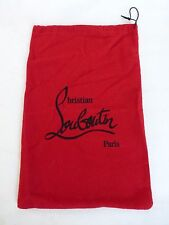 Christian LOUBOUTIN dust bag 9.75 X 13.5 sleeper shoe storage travel duster red