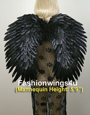 FashionWings Duo Use BLACK swan raven crow costume feather angel wings