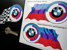 BMW Gunsight Roundel & Motorsport Colour Flag STICKERS 125mm Race Rally Car CSL