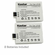 2x Kastar Battery for Canon LP-E5 Kiss X3 EOS Rebel XS Rebel XSi Rebel T1i