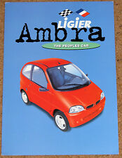 LIGIER AMBRA GLS Sales Brochure - RHD UK Market - Mint Condition