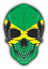 "Skull Flag Jamaica Car Bumper Sticker 4"" x 5"""