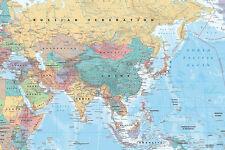 Mappa dell' Asia Medio Oriente maxi formato 91,5 x61cm POSTER gli aiuti all' istruzione NUOVO