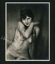 "Hilde Meyer cobre * Veiled nude/acto estudio * r! vintage 30s ""L"" Noyer photo"