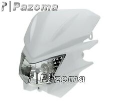 HEADLIGHT HEAD LAMP WHITE STREETFIGHTER DIRT BIKE KLX CRM XR DRZ RMZ RM250 YZ WR