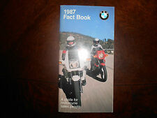 NOS BMW OEM 1987 Fact Book K100 K75 R80 R65 G/S LT RT RS SPEC