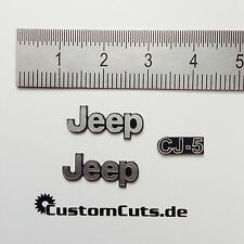 Jeep Wrangler CJ-5 Embleme für Axial RC4WD Tamiya  1:10 RC Scaler Decal Sticker