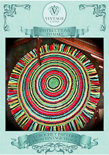 Vintage Crochet pattern-How to make a trendy circular crochet rug- easy to make