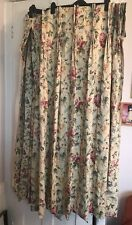 Pair Lined Laura Ashley Curtains With Tie backs