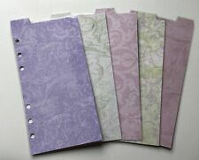 Filofax Personal Planner - Pretty Pastel Patterned Dividers Top Tabs - Laminated
