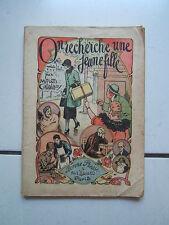 BONNE PRESSE / CATALANY / ON RECHERCHE UNE JEUNE FILLE /  1946
