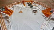 NEW HOUSTON DYNAMO MLS SOCCER LARGE AUTHENTIC JERSEY SHIRT MAILLOT CAMISETA $120