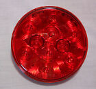 "2-(PAIR) 4"" ROUND LED STOP TURN TAIL LIGHTS 10 DIODE 40 TRAILER TRUCK RV-UL114R"