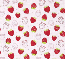 "Camelot Cottons - Strawberry Scented Cotton Fabric Yardage 44"" Wide          C4"