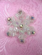 "XR284 Sequin Applique Crystal AB Rhinestone Snowflake Christmas 1.5"" (XR284-cab)"