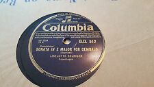 LISELOTTE SELBIGER SCARLATTI SONATA IN E MAJOR FOR CEMBALO COLUMBIA DD512