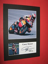 CASEY STONER A4 PHOTO MOUNT SIGNED PRINT AUTOGRAPH MOTOGP SUPERBIKES