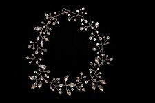 Bridal Rhinestones Pearls Crystals Hair Vine Tiara Headband Crown Hair Headpiece
