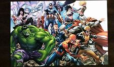 "MARK BROOKS AVENGERS MCU ART PRINT - SIGNED 13""x!9"""