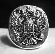 STERLING SILVER 925 IMPERIAL RUSSIAN EAGLE BYZANTINE GREEK ORTHODOX  MEN'S RING