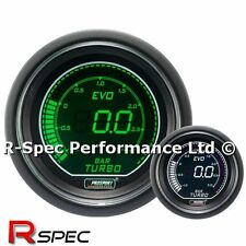 Genuine ProSport 52mm Evo Verde Blanco Pantalla LCD Digital Turbo Boost Gauge Bar