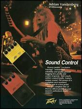 Whitesnake Adrian Vandenberg 1988 Peavey Effects Pedals 8 x 11 ad print