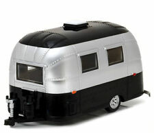 AIRSTREAM BAMBI 16' CAMPER TRAILER BLACK/SILVER 1/24 DIECAST BY GREENLIGHT 18226