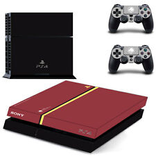 PS4 Skin Retro weinrot Designfolie Sticker Playstation 4 Vinyl Schutzfolie -Matt