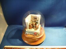 "RARE Enesco Glass Domed Mouse On Piano ""No Place Like Home"" Music Box"