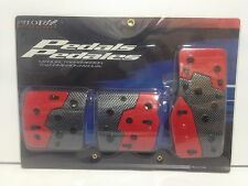 Toyota,Scion Red/Carbon Fiber Manual Transmission Cover Foot Pedals Pads