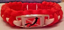 SCUBA Dive Flag with a Male SCUBA Diver Handmade Red & White Paracord Bracelet