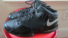 NIKE AIRMAX POSTERIZE BLACK LEATHER MEN'S BASKETBALL SHOES SIZE 9.5