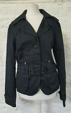 Ladies Belted Spoon Dark Blue Jacket 118