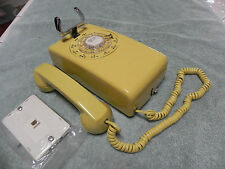 1958 Yellow Western Electric Bell System 554 Rotary Wall Telephone-Restored-Nice