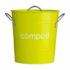 Premier Housewares Lime Green Indoor Waste Compost Bin Pail Bucket Caddy Recycle