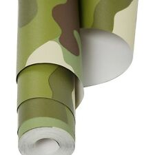Roll Of Army Camouflage Wallpaper - 10.5m Roll Of Kids Camo Bedroom Wallpaper