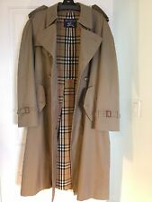 BURBERRY MENS 42 REGULAR DOUBLE BREASTED TRENCH COAT RAINCOAT & WOOL LINER