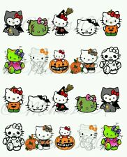 Hello kitty Halloween Nail decals (water decals)