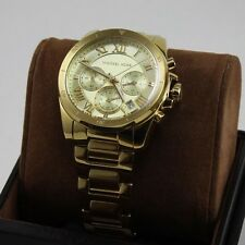 NEW AUTHENTIC MICHAEL KORS BRECKEN  GOLD CHRONOGRAPH WOMEN'S MK6366 WATCH