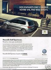Publicité advertising 2014 VW Volkswagen Golf Sportsvan