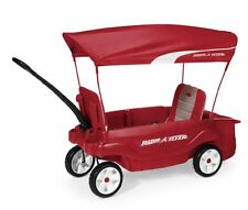 Radio Flyer The Ultimate Comfort KIDS WAGON, Pull Along Folding WAGON, Red