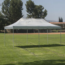 Premium Silver and White 10'x20' Outdoor Pop Up Party Event Canopy Shelter Tent