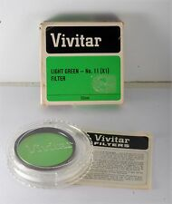 VINTAGE VIVITAR 55MM LIGHT GREEN #11 LENS FILTER INSTRUCTIONS IN CASE w BOX USED