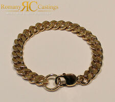 Flat Curb Link 8.5 inches Bracelet in Jewellers Bronze 28g 9ct Gold Dipped