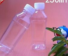 92 New Empty Clear Plastic Juice Drinks Bottles 250 ml item no 65