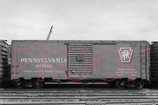 Pennsylvania Railroad (PRR) X43A Boxcar 603443 - 8x10 Photo