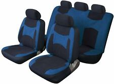 LAGUNA SECA UNIVERSAL FULL SET SEAT PROTECTOR COVERS BLUE & BLACK FOR TOYOTA