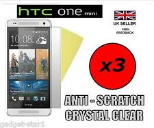 3x HQ CRYSTAL CLEAR SCREEN PROTECTOR COVER LCD FILM GUARD FOR HTC ONE MINI M4