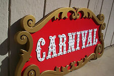 """CARNIVAL - Circus Sign Hand Made! Must See! BIG 35 """" wide!!"""