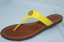 Tory Burch Cameron Shoes Yellow Patent Size 6.5 Sandals Thongs Women's NIB